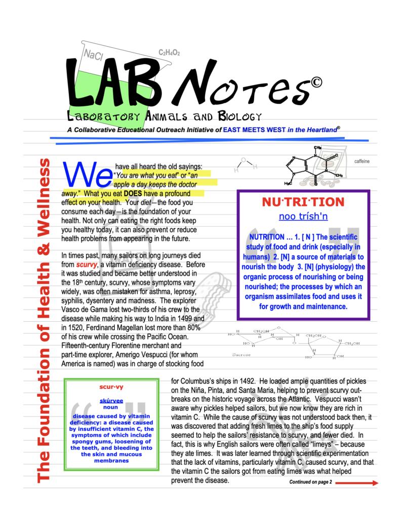 LabNOTES: Nutrition